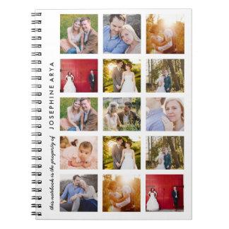 Journal de carnet de notes à spirale de photo de
