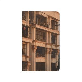 Journal de coucher du soleil d'appartement de