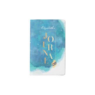 Journal de couleur pour aquarelle d'Aqua et d'or