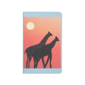 Journal de poche avec la conception de girafe