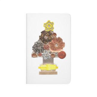 Journal de poche d'arbre de Noël de Steampunk