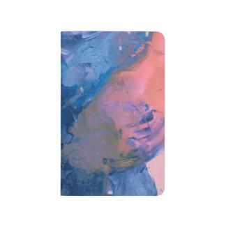 Journal de poche d'art d'Abstact - moderne rose