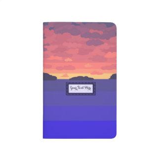 Journal de poche de coucher du soleil d'été