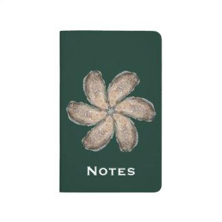 Journal de poche de fleur d'huître - vert de la