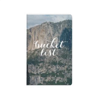 Journal de poche de liste de seau