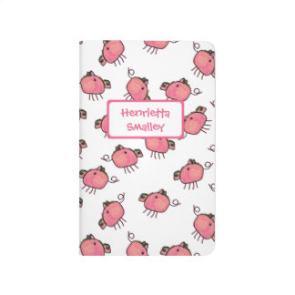 Journal de poche personnalisé par porcs mignons