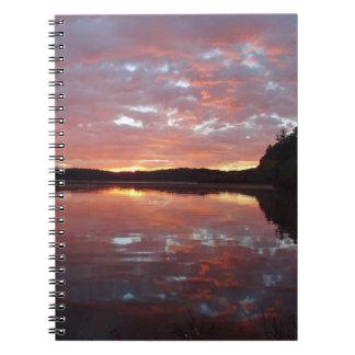 Journal de réflexions de lever de soleil