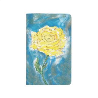 Journal de rose jaune (rayé)