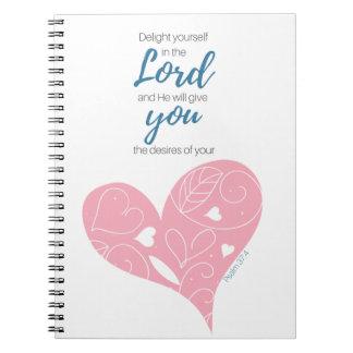 Journal d'écriture sainte de 37:4 de psaume