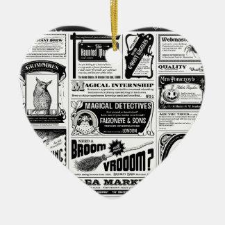 journal déplaisant ornement cœur en céramique