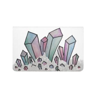 Journal en cristal de groupe d'aquarelle en pastel