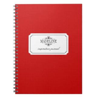 Journal fait sur commande noir rouge d'inspiration carnets