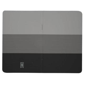 Journal gris rayé réglable de poche