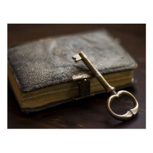 journal intime attach de cuir sous clef carte postale zazzle. Black Bedroom Furniture Sets. Home Design Ideas