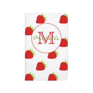 Journal mignon de poche de monogramme de motif de