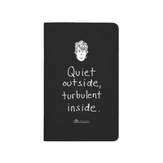 Journal noir intérieur turbulent de poche
