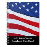 Journal patriotique personnalisé de drapeau améric carnet à spirale
