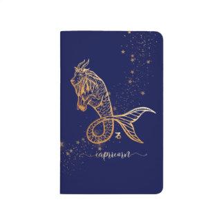 Journal personnalisé par or de marine de zodiaque
