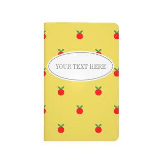 Journal rouge fait sur commande de poche de pomme
