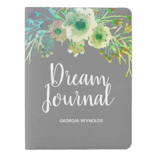 Journal vert de rêve de guirlande de fleur