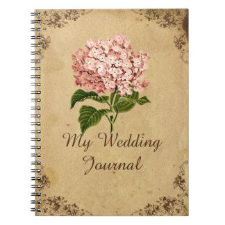 Journal vintage de mariage d'hortensia