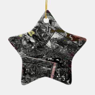 Journal vintage ornement étoile en céramique