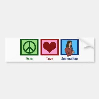 Journalisme d'amour de paix autocollant pour voiture