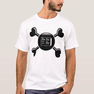 Journalisme d'os croisés t-shirt