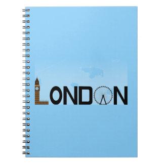 Journée d'horizon de Londres Carnet