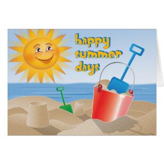 Jours d'été heureux cartes