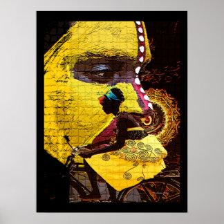 Jours jaunes de l'Afrique Poster
