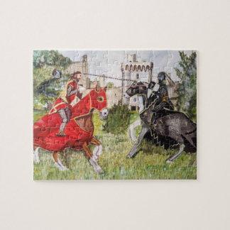 Joute médiévale colorée puzzle