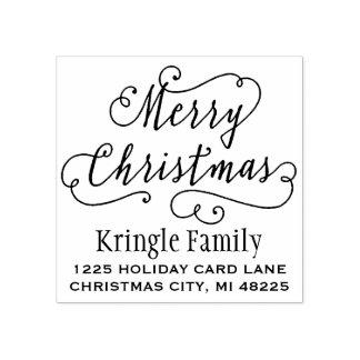 Joyeuse adresse de retour de Noël |