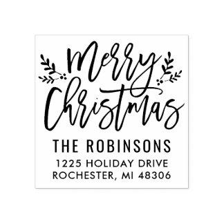 Joyeuse adresse moderne de manuscrit de Noël |