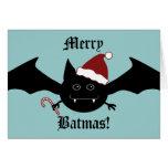 Joyeuse batte gothique idiote de Batmas Cartes De Vœux