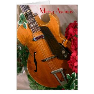 Joyeuse carte de guitare de jazz d'Axemas
