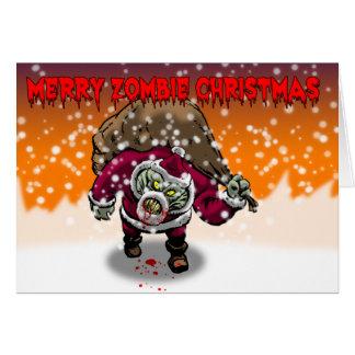Joyeuse carte de Noël de zombi