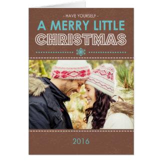 Joyeuse carte de Noël pliée peu moderne