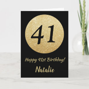 Cartes 41 Ans D Anniversaire Zazzle Fr