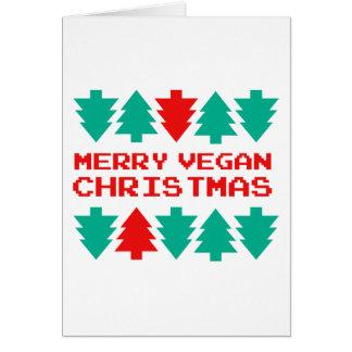 Joyeuse carte de voeux végétalienne de Noël de