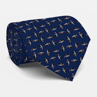 Joyeuse cravate de Noël de Gentoos (marine)