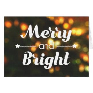 """""""Joyeuse et lumineuse"""" carte de Noël"""
