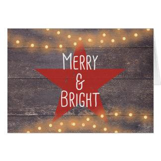 """""""Joyeuse et lumineuse"""" carte de Noël rustique"""