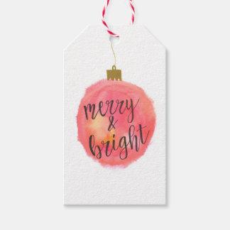 Joyeuse et lumineuse de cadeau étiquette