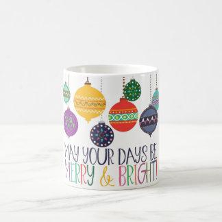 Joyeuse et lumineuse tasse de Noël