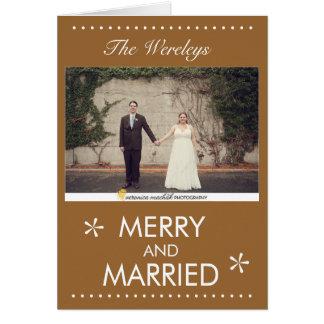 Joyeuse et mariée carte de Noël