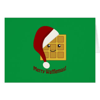 Joyeuse gaufre de Noël de Wafflemas Cartes