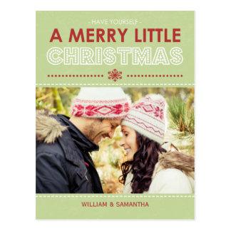 Joyeuse petite carte postale de vacances de Noël