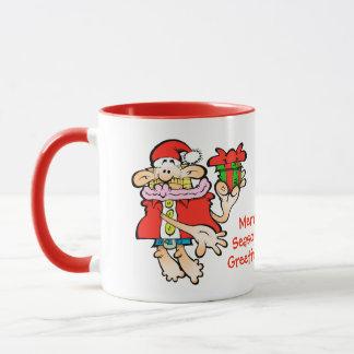 Joyeuse tasse saisonnière absurde de Noël de Père