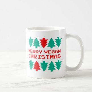 Joyeuse tasse végétalienne de Noël de Noël